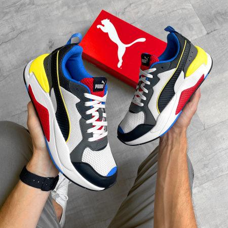 Puma - Baskets X-Ray 372602 White Black Dark Shadow Red Blue