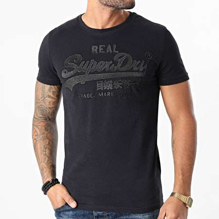 Superdry - Tee Shirt VL Embroidery M1010405B Noir