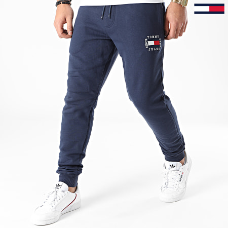 Tommy Jeans - Pantalon Jogging Slim Box Flag 1017 Bleu Marine