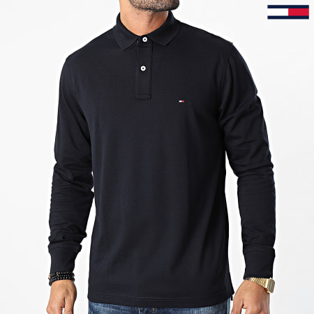 Tommy Hilfiger - Polo Manches Longues Regular 5473 Bleu Marine