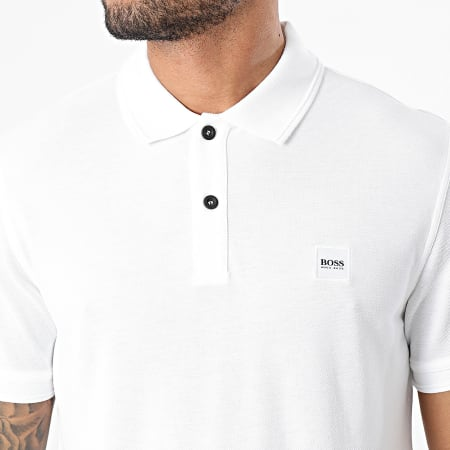 BOSS By Hugo Boss - Polo Manches Courtes Prime 50378365 Blanc