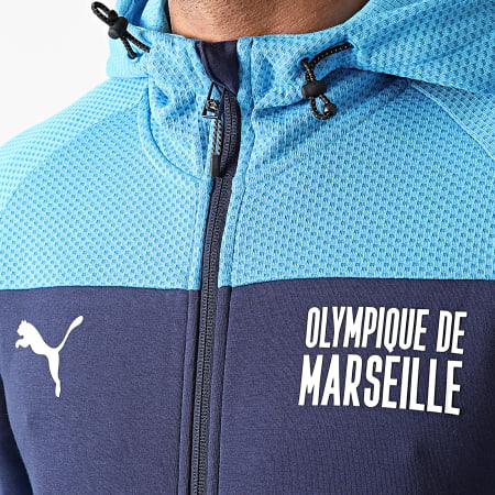 Puma - Sweat Zippé Capuche OM Evostripe 759711 Bleu