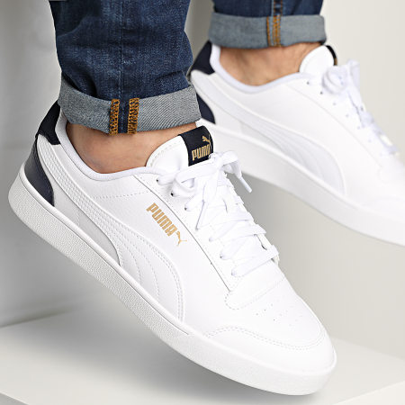 Puma - Baskets Puma Shuffle 309668 White White Peacoat Gold