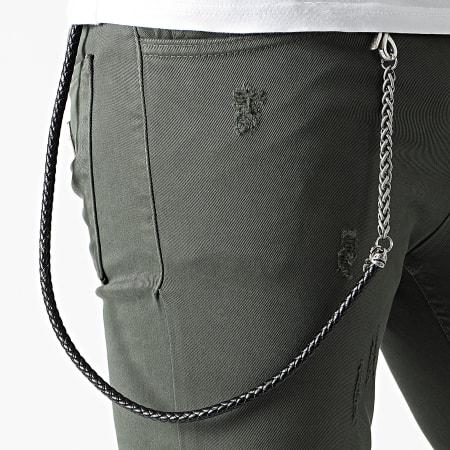 Uniplay - Jean Slim 20PT02 Vert Kaki