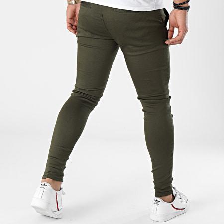 GRJ Denim - Pantalon Chino Slim ADJ2030 Vert Kaki