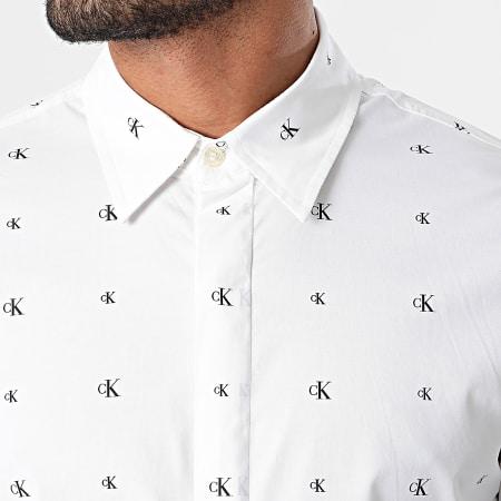 Calvin Klein Jeans - Chemise Manches Longues Seasonal Pattern 6643 Ecru