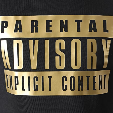Parental Advisory - Sweat Crewneck Gold Logo Noir