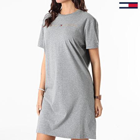 Tommy Hilfiger - Robe Tee Shirt Femme 2578 Gris Chiné Doré