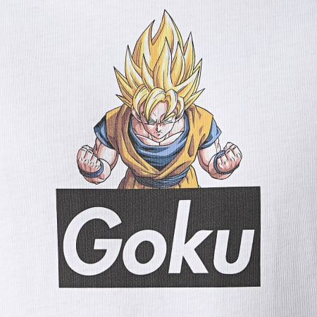 Dragon Ball Z - Tee Shirt Selfie Goku Blanc
