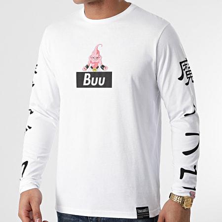 Dragon Ball Z - Tee Shirt Manches Longues Selfie Buu Blanc