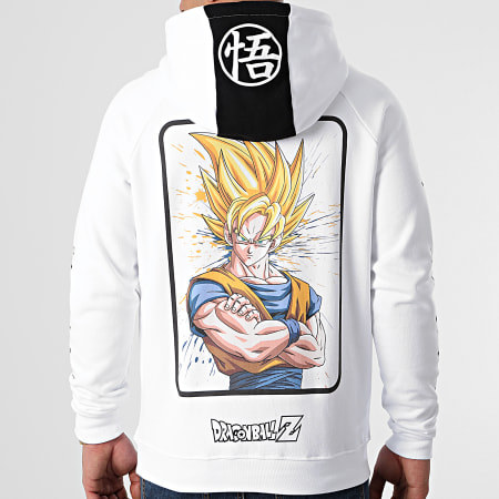 Dragon Ball Z - Sweat Capuche Selfie Goku Blanc