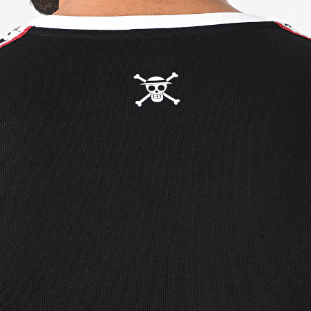 One Piece - Tee Shirt Manches Longues A Bandes Luffy Noir