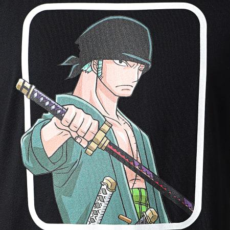 One Piece - Tee Shirt Manches Longues Selfie Zoro Front Noir