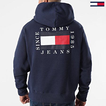 Tommy Jeans - Sweat Col Zippé Capuche 8719 Bleu Marine