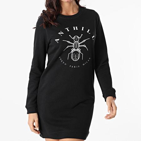 Anthill - Robe Sweat Femme Logo Noir
