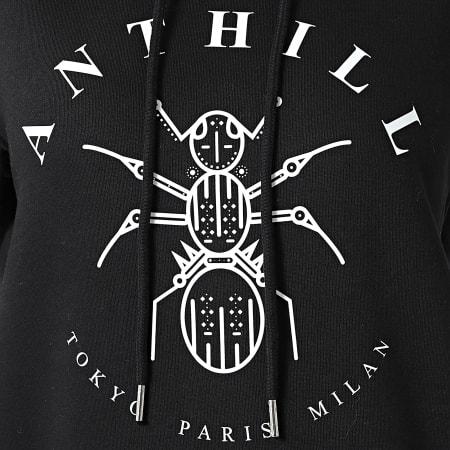 Anthill - Robe Capuche Sweat Femme Logo Noir