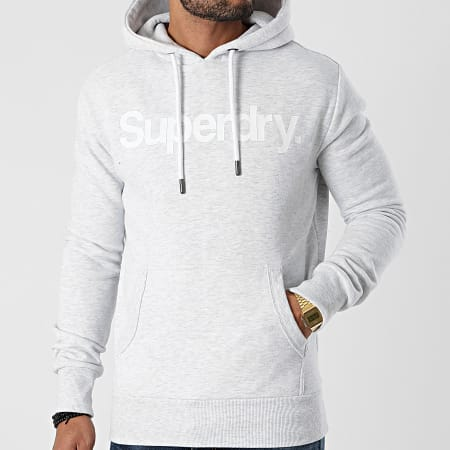 Superdry - Sweat Capuche Classic NS M2010289A Gris Chiné