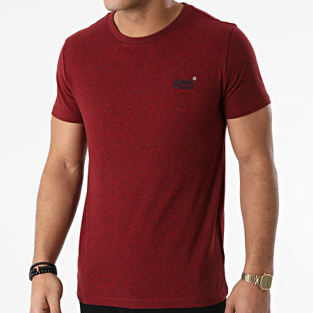 Superdry - Tee Shirt OL Vintage Embroidered M1010222A Bordeaux Chiné