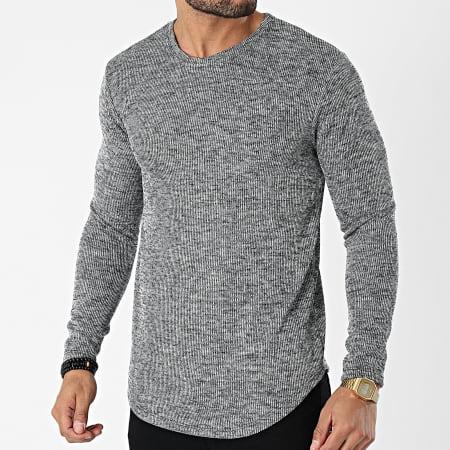 Frilivin - Tee Shirt Manches Longues Oversize 15078 Gris Chiné