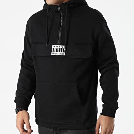 Parental Advisory - Sweat Outdoor Col Zippé Logo Noir