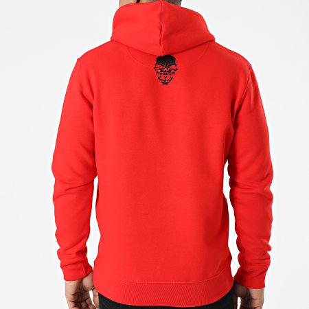 Untouchable - Sweat Capuche Logo Rouge Noir