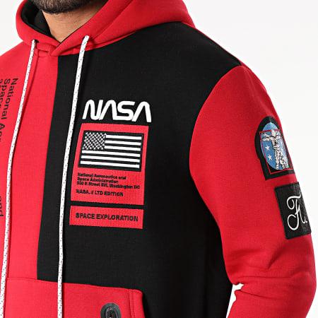 Final Club x NASA - Sweat Capuche Nasa Half Colors Limited Edition Noir Rouge