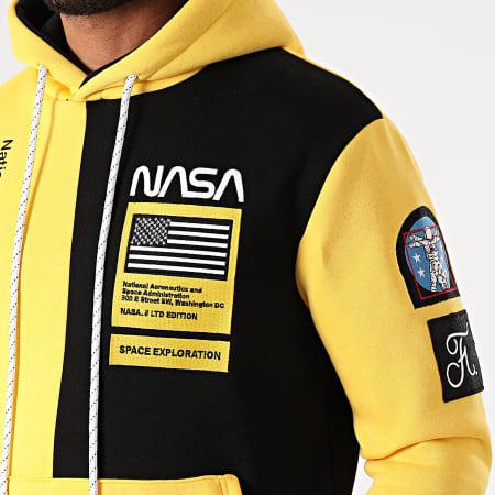 Final Club x NASA - Sweat Capuche Nasa Half Colors Limited Edition Noir Jaune