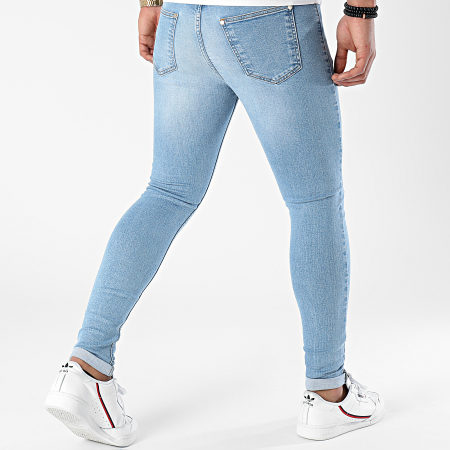 LBO - Jean Super Skinny Fit Destroy 1454 Denim Bleu Clair