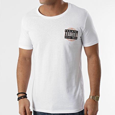 Parental Advisory - Tee Shirt Parental Advisory Globe Blanc