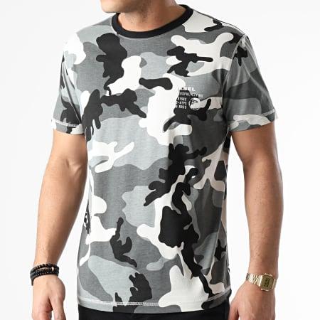 Diesel - Tee Shirt Diegos A00628-0HAZW Gris Camouflage