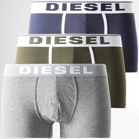 Diesel - Lot De 3 Boxers Damien 00ST3V-0JKKC Bleu Marine Gris Chiné Vert Kaki