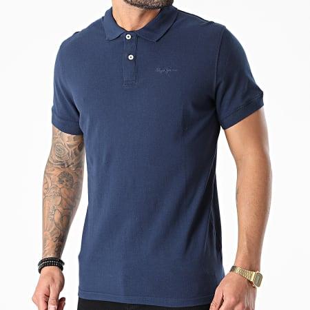Pepe Jeans - Polo Manches Courtes Vincent PM541009 Bleu Marine