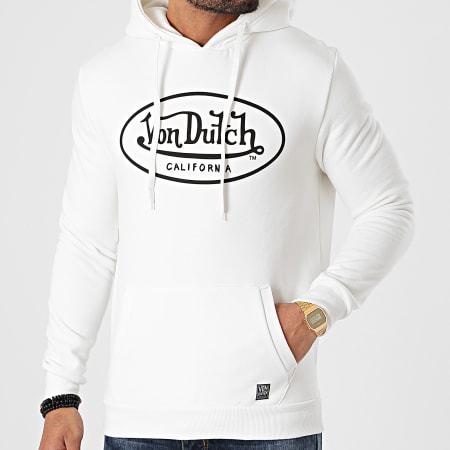 Von Dutch - Sweat Capuche Brand Blanc