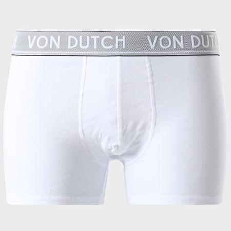 Von Dutch - Lot De 5 Boxers Original Noir Gris Chiné Blanc