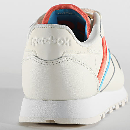 Reebok - Baskets Femme Classic Leather FX3003 Cloud White Carbon Vector Red