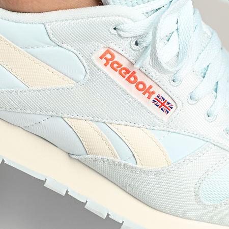 Reebok - Baskets Classic Leather FY7545 Chalk Blue Classic White Orange Flare