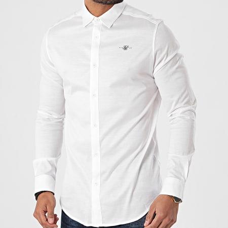 SikSilk - Chemise Manches Longues Cotton Shirt SS-18067 Blanc