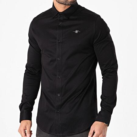 SikSilk - Chemise Manches Longues Cotton Shirt SS-18066 Noir