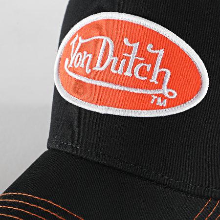 Von Dutch - Casquette Trucker Abob Noir Orange