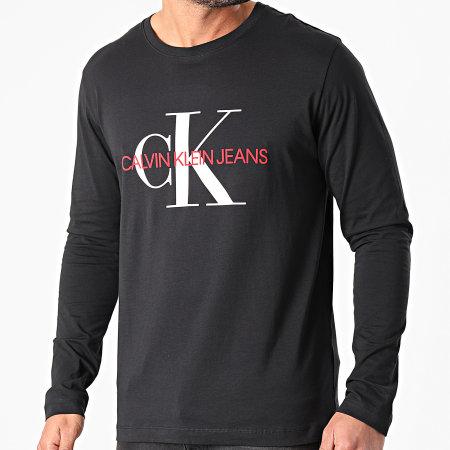 Calvin Klein - Tee Shirt Manches Longues Monogram 9224 Noir