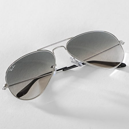 Ray-Ban - Lunettes De Soleil Aviator Large Metal 3025 Chrome Gris