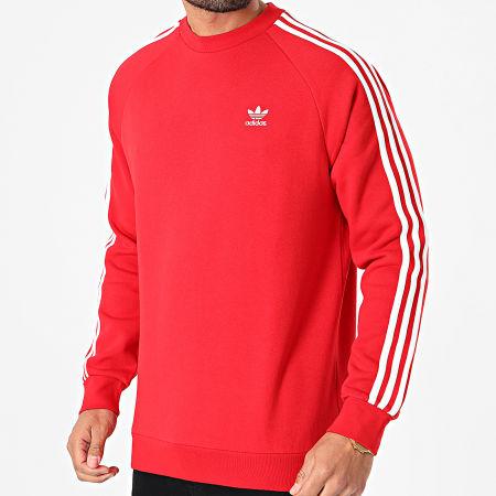 adidas - Sweat Crewneck A Bandes GN3484 Rouge