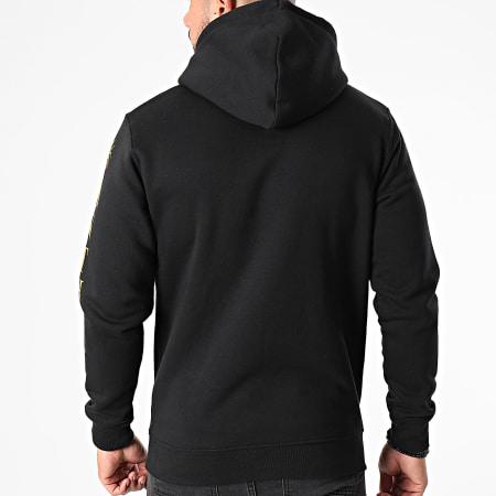 Anthill - Sweat Capuche Logo Noir Doré