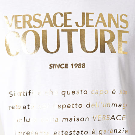 Versace Jeans Couture - Tee Shirt Etichetta Blanc Doré