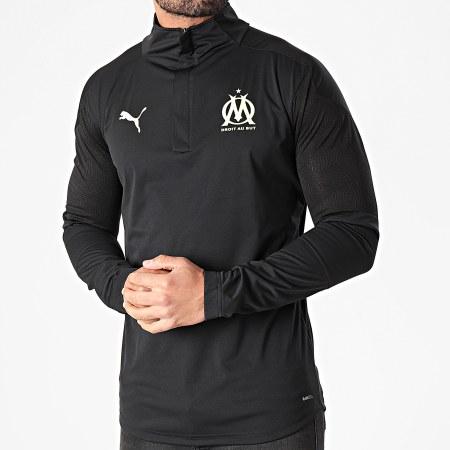 Puma - Tee Shirt Manches Longues De Sport OM Training Noir
