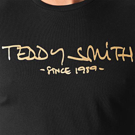 Teddy Smith - Tee Shirt Ticlass Basic Noir Doré