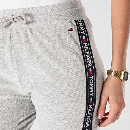 Tommy Hilfiger - Pantalon Jogging Femme A Bandes 2545 Gris Chiné