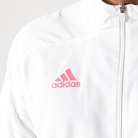 adidas - Veste Zippée A Bandes Real Madrid FQ7861 Ecru