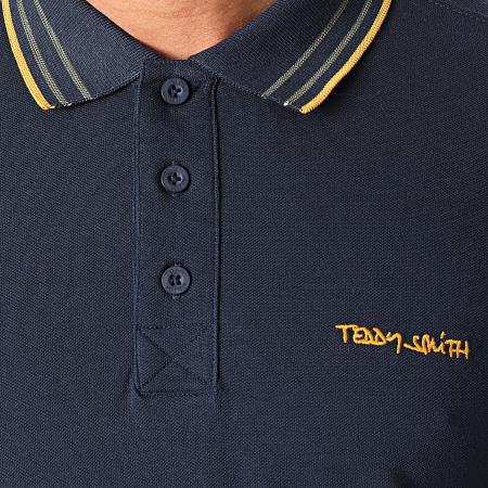 Teddy Smith - Polo Manches Courtes Pasian Bleu Marine