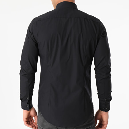 Calvin Klein - Chemise Manches Longues Chest Logo Slim 6085 Bleu Marine
